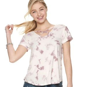 Mudd Rose Taupe Crossover Front Top